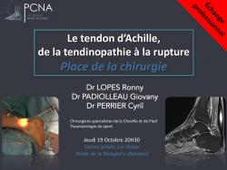 le tendon d'Achille, place de la chirurgie