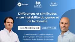 WEBINAR FOLLOW  Instabilité de cheville et de genou: Différences et similitudes